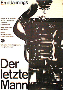 Filmposter Der letzte Mann