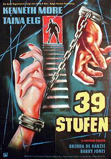 Filmposter Die 39 Stufen