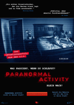 Filmposter Paranormal Activity