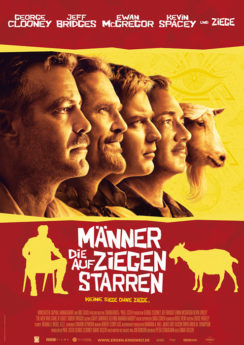 Filmposter Männer, die auf Ziegen starren