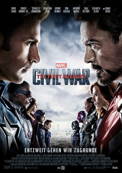 Filmposter The First Avenger: Civil War