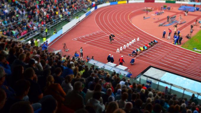 Sprinter im Stadion