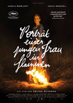 Filmposter Porträt einer jungen Frau in Flammen